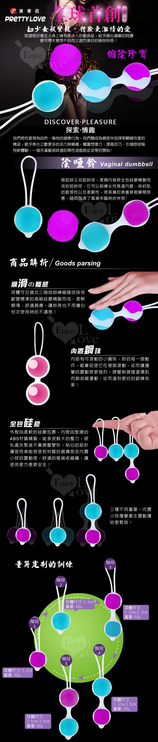 PRETTY LOVE 派蒂菈‧Drgasmic Ball 縮陰珍寶 球體可交換式三階段訓練禮盒
