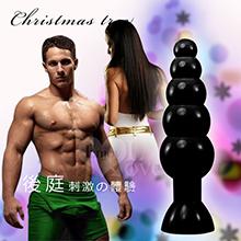 Christmas tree 耶誕樹‧五連珠大後庭塞 長20cm﹝黑﹞,貨號:NO.504061,價格:290