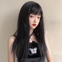 成人娃娃裝扮假髮 ‧ 齊瀏海 - 長直髮 / 黑色,貨號:NO.504104,價格:230